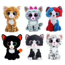 Ty Boos Stuffed & Plush Animals Black Cat Doll Toys for Children 15cm(China)