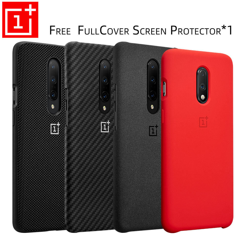 Oneplus 7 Pro Case Original 100% From Oneplus Official Protective Cover Nylon Bumper Sandstone Case One Plus 7 Oneplus 6T(China)