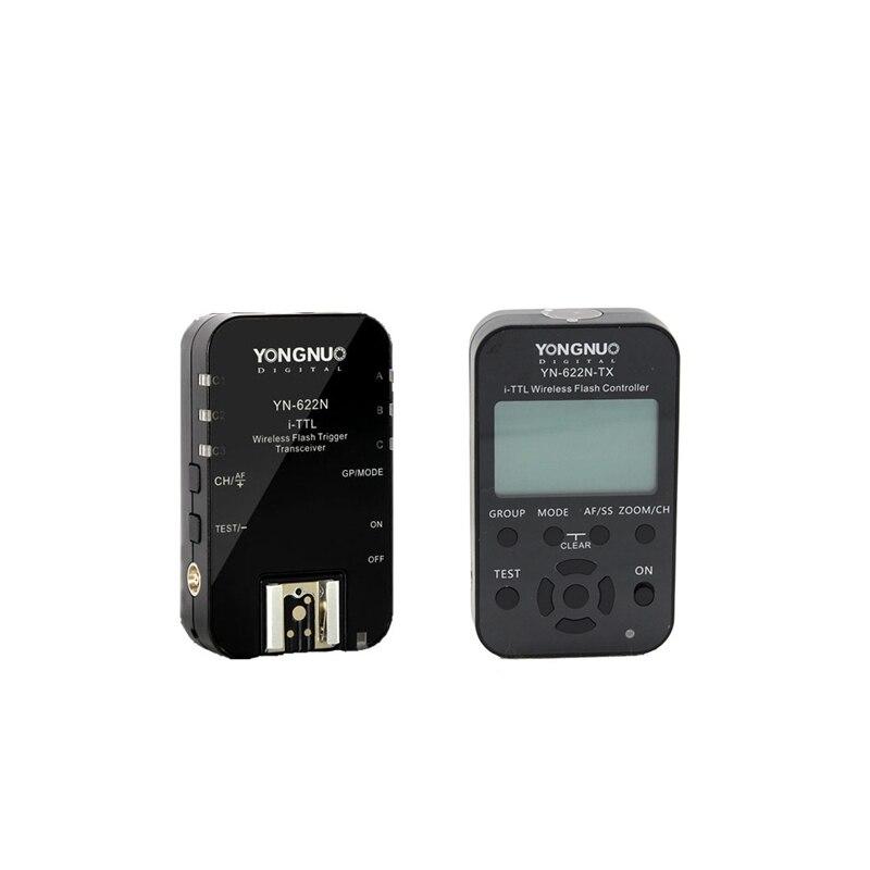 YongNuo YN-622N 1 x TX + 1 x RX i-TTL LCD wireless flash controller wireless flash trigger transceiver For Nikon DSLR acv pi 622