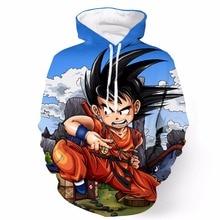 New Anime Dragon Ball Z Super Saiyan Hooded Sweatshirts Angry Kid Goku 3D Hoodies Men Women Cartoon Hoodie Sweatshirt Pullovers