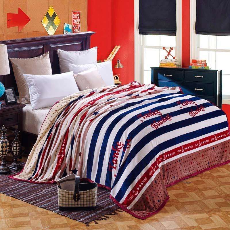 super soft warm plaid coral fleece flannel fabric blanket baby sofa throw plaid cartoon winter qulit plush bedsheet gift