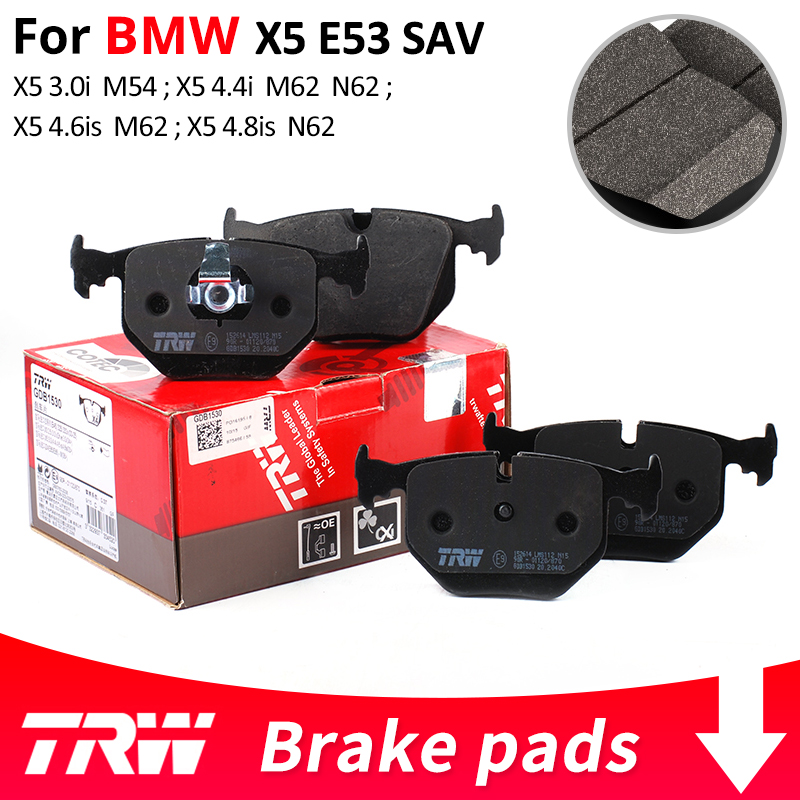 цена на 4pieces/set TRW Front/Rear Car Brake Pads/Brake piece For BMW X5E53 SAV X5 3.0i X5 4.4i X5 4.6is X5 4.8is
