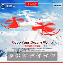 FLY329 2.4G 6-Axis Gyro 4-CH UFO RC Quad-copter kvadrokopter Remote Control Helicopter with LED Light Free Shipping