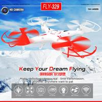FLY329 2.4G 6-Axis Gyro 4-CH UFO RC Quad-copter kvadrokopter Afstandsbediening Helikopter met LED Licht Gratis Verzending