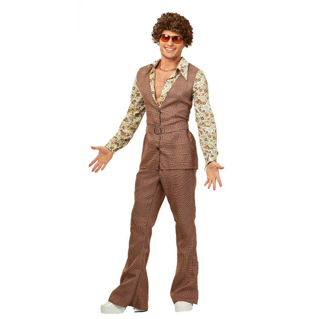 irek hot halloween costume cosplay costume stage performances clothing 70s mens disco party costumes