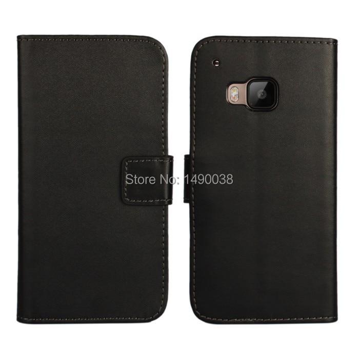 Svart högkvalitativt PU-läderplånbok för HTC One M9 Cover Flip - Reservdelar och tillbehör för mobiltelefoner - Foto 1