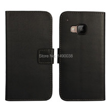 Black High Quality PU Leather Wallet Case For HTC One M9 Cover Flip Case with Book Stand Card Slot Phone Bag Free