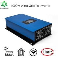 Oferta Inversor de viento Vesdas MPPT Gird Tie para turbina de viento con limitador 1000 W AC