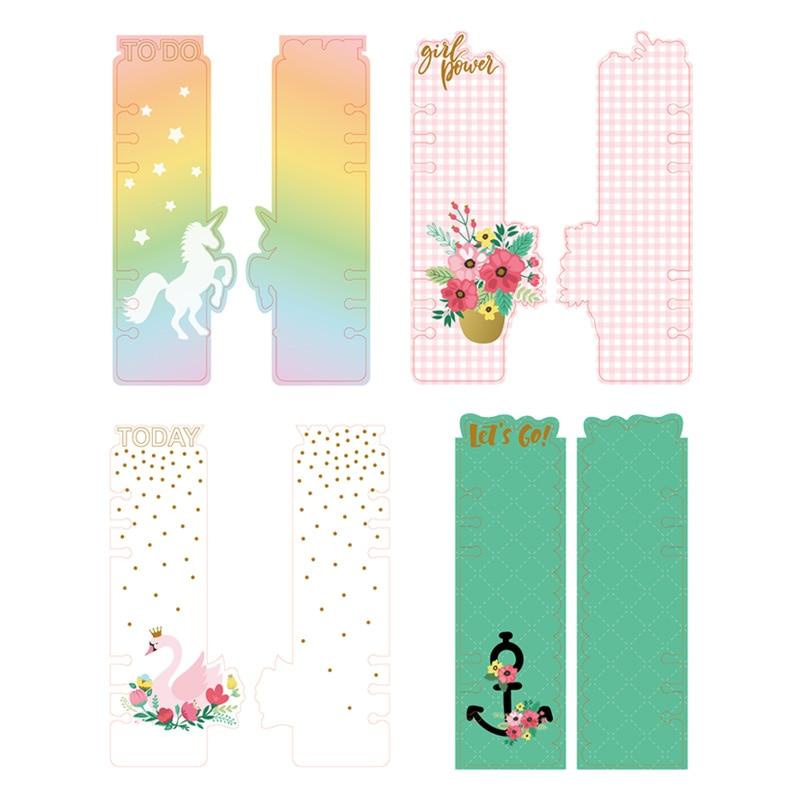 Lovedoki Creative Unicorn Swan Shape Ruler Bookmark For Filofax Spiral 2018 Notebook Handmade Ruler Cute Kawaii Stationery Store