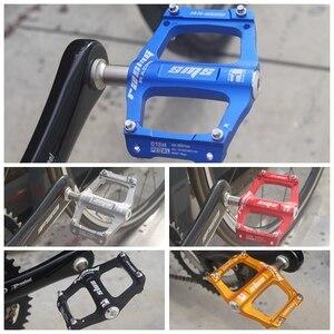 Image 5 - 3 מסבי אלומיניום סגסוגת Ultralight דוושות אופני הרי MTB אילגון אופניים דוושת כביש אופני דוושות עבור חיצוני ספורט