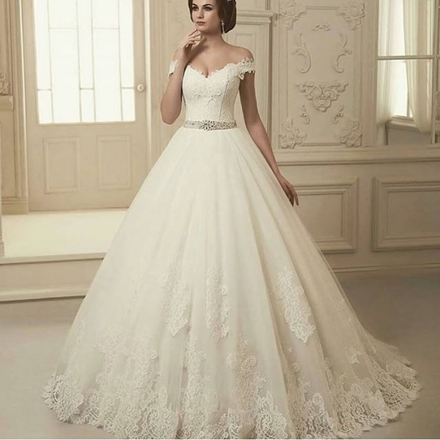 a line sweetheart lace straps off shoulder wedding dresses with