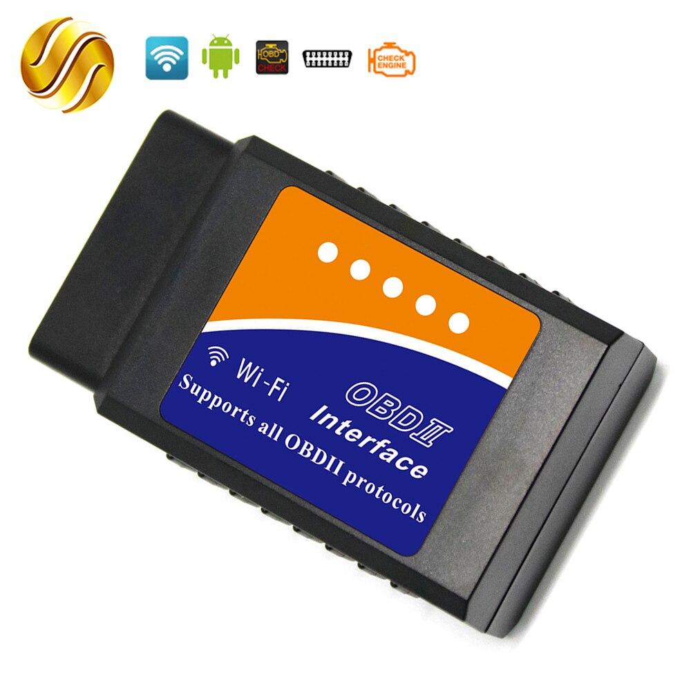 Viecar ELM327 WIFI OBDII/OBD2 V1.5 ELM 327 PIC18F25K80 Version 1.5 pour Windows Android IOS Couple Voiture Scanner Auto lecteur de Code