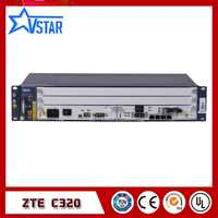 New and Original ZTE ZXA10 C320 OLT, with SXMA card/PRAM card, AC power supply