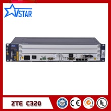 New and Original ZTE ZXA10 C320 OLT, with SXMA card/PRAM card, AC power supply uv ink printed barcode card and plastic member key card 3 part supply