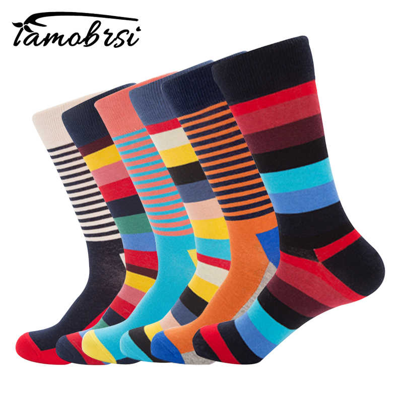a47640506e380 Stripe Funky Colorful Cool Socks Happy Mens Novelty Loafer Cotton ...
