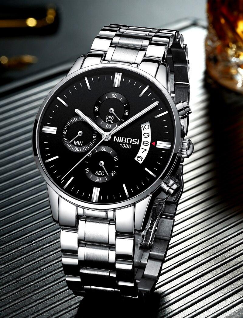 superior relógios masculinos de luxo moda homem