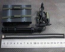 """1:6 Escala Figura modelo de Plástico arma M134 Gatling Gun Acessório para 12 """"figura de Ação boneca, não incluem boneca e outros"""