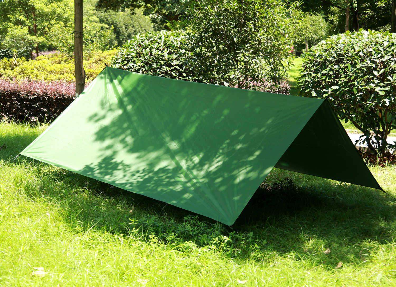 3*3m Large Garden Balcony Patio Awnings Silver Coated Hanging Tent Hammock Folding UV Proof Waterproof Mat Shades Pergola