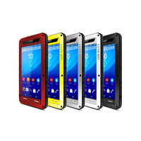 Love Mei Powerful Case For Sony Xperia M5 Waterproof Shockproof Aluminum Case Cover with free Gorilla Glass For Sony Xperia M5