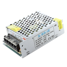 New Hot selling 12V 5A Switching Power Supply for LED Strip light стоимость