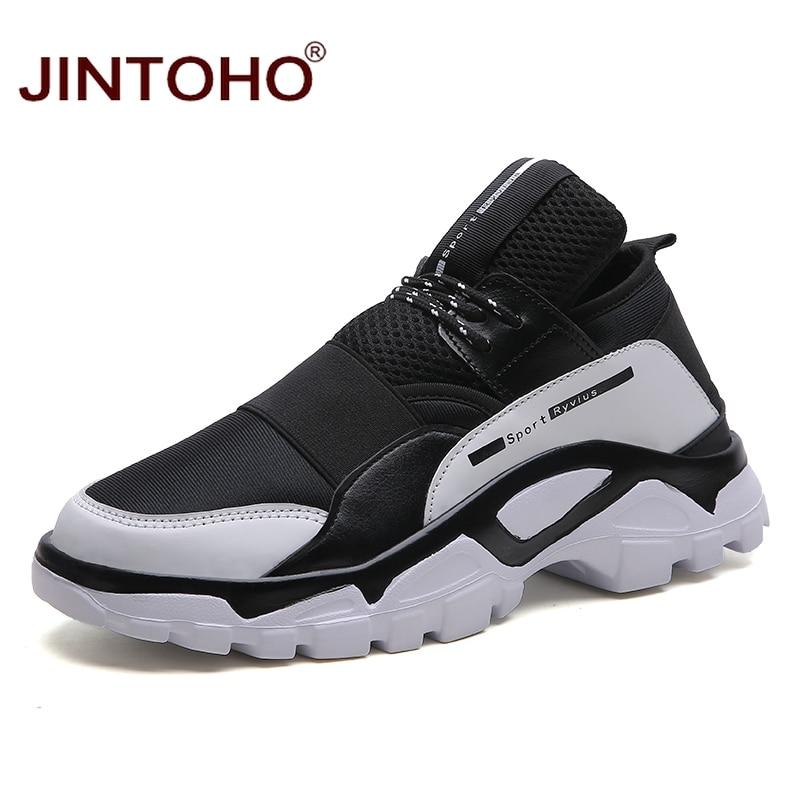 Jintoho Style Informal Males Footwear Breathable Male Snug Footwear Model Males Sneakers Informal Grownup Male Footwear