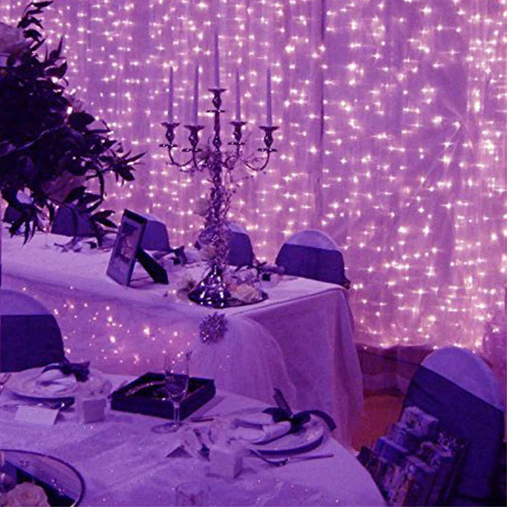 100% Brand New High Quality Window Curtain Lights String Fairy Lamp Wedding Party Decor Striking 300 LED Drop Shipping