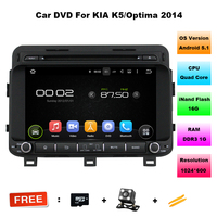1024 600 Quad Core HD 2 Din 8 Android 5 1 Car DVD GPS For Kia
