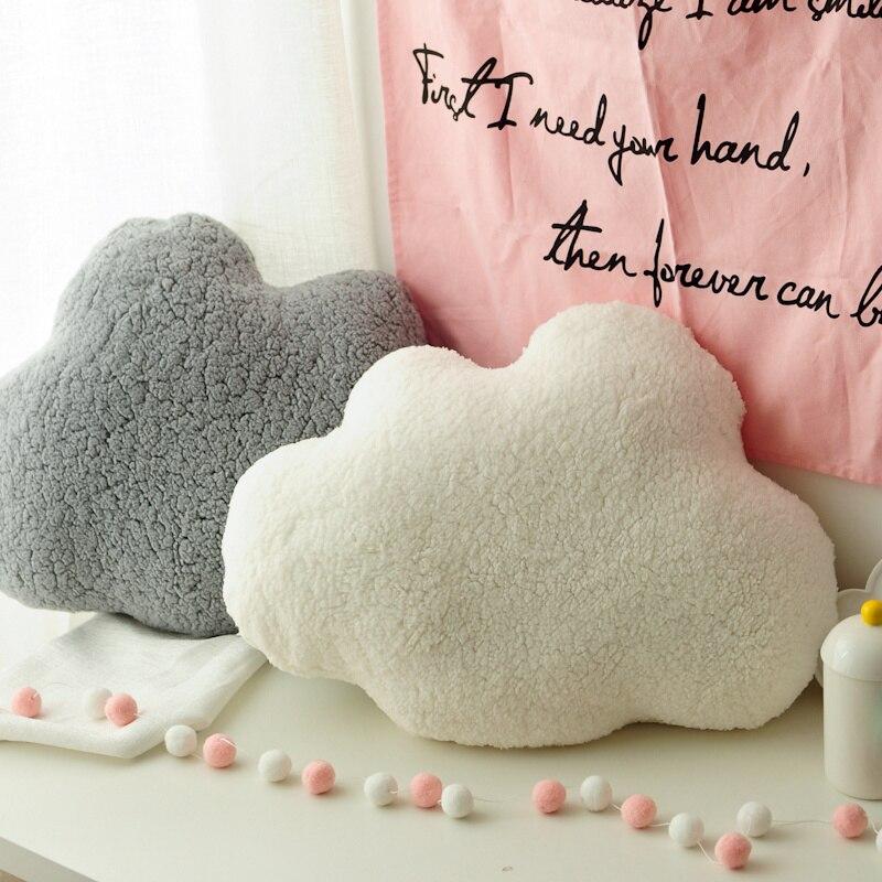 Weiche Wolke Form Kissen Plüsch Gefüllt Dekorative Natur Werfen Kissen  Kinderzimmer Sofa Bar Shop Stuhl Kissen Weiß/Grau 60*45 cm