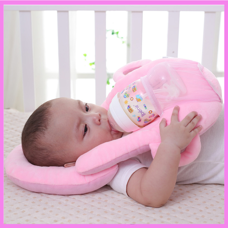 Multifunction Newborn Flat Head Support Pillow Memory Cotton Positioner Baby Sleep Milk Bottle Feeding Holder Support Pillow
