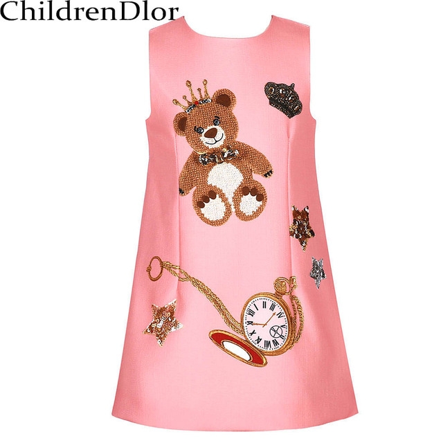 43db01aca95a Girls Clothes Party Dresses Autumn 2017 Sleeveless Princess Dress ...