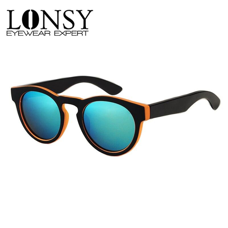 100% QualitäT Lonsy Bambus Sonnenbrille 2017 Mode Polarisierte Holz Sonnenbrille Frauen Marke Designer Brillen Rahmen Runde Bambus Gläser