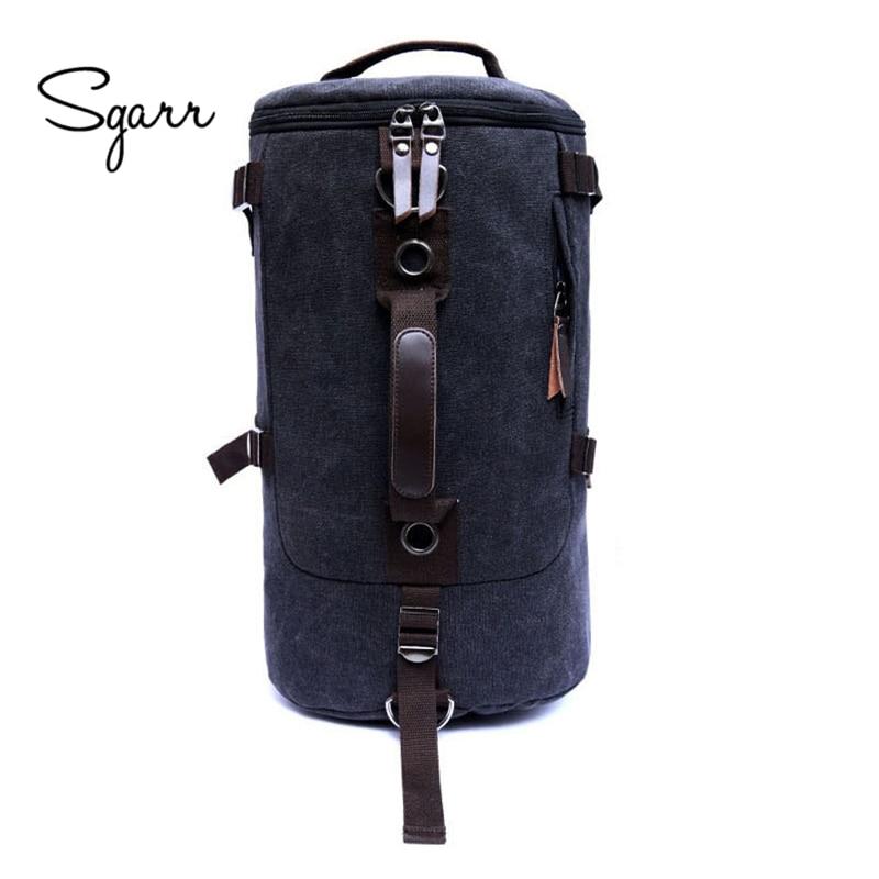SGARR fashion men backpacks canvas bags for men travel bag canva vintage Multifunction Rusksack Male Brown khaki Backpack newest
