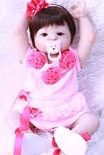 Bebé niña reborn muñeca realista silicona vinilo niños jugar casa juguetes regalo l. o l boneces alive bebes llorones sorpresa Juguetes