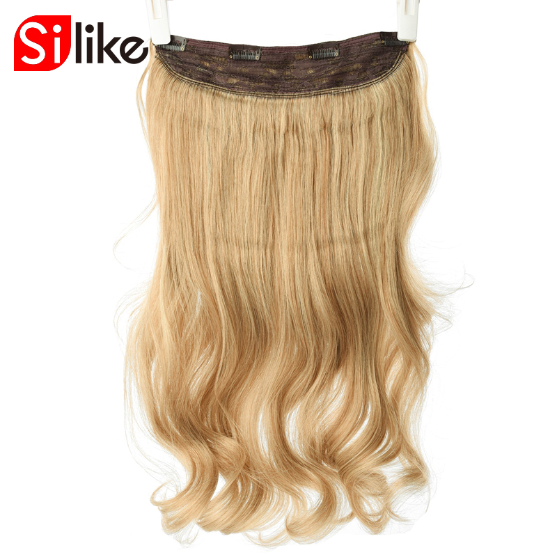 Silke Long Wavy Clip in Synthetic Hair Extensions 24 inch 190G/PC 4 Clips Heat Resistant Fiber 17 Colors For Women ...