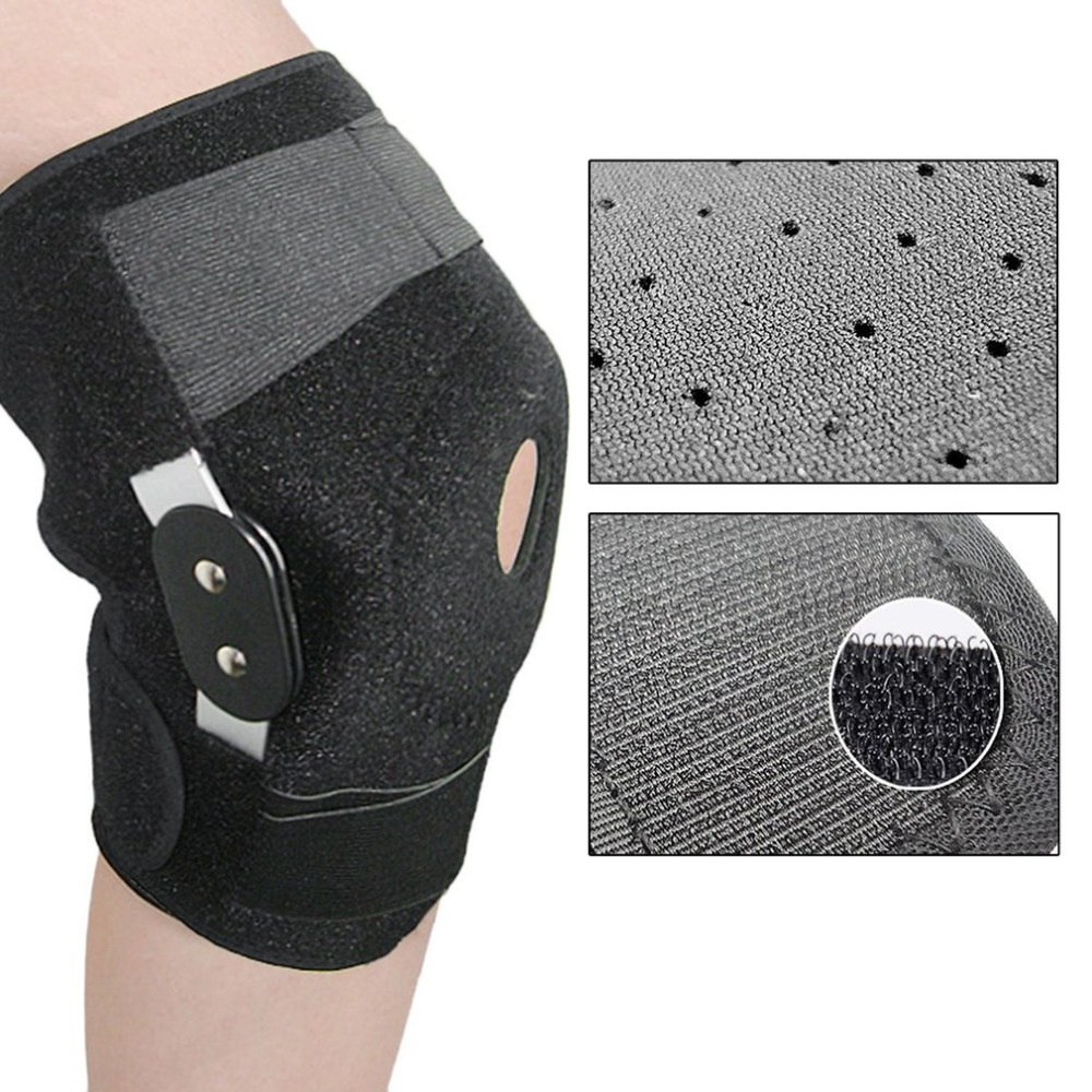 Adjustable Medical Hinged Knee Orthosis Brace Support Ligament Sport Injury Orthopedic Splint Sports Pads Outdoor