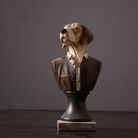Modern Creative Office Home Decorative Dolls Gift Resin Jazz Dog
