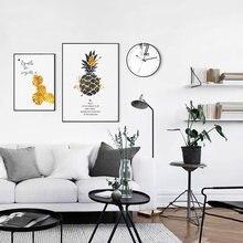 Золотой ананас настенная живопись холст скандинавские плакаты