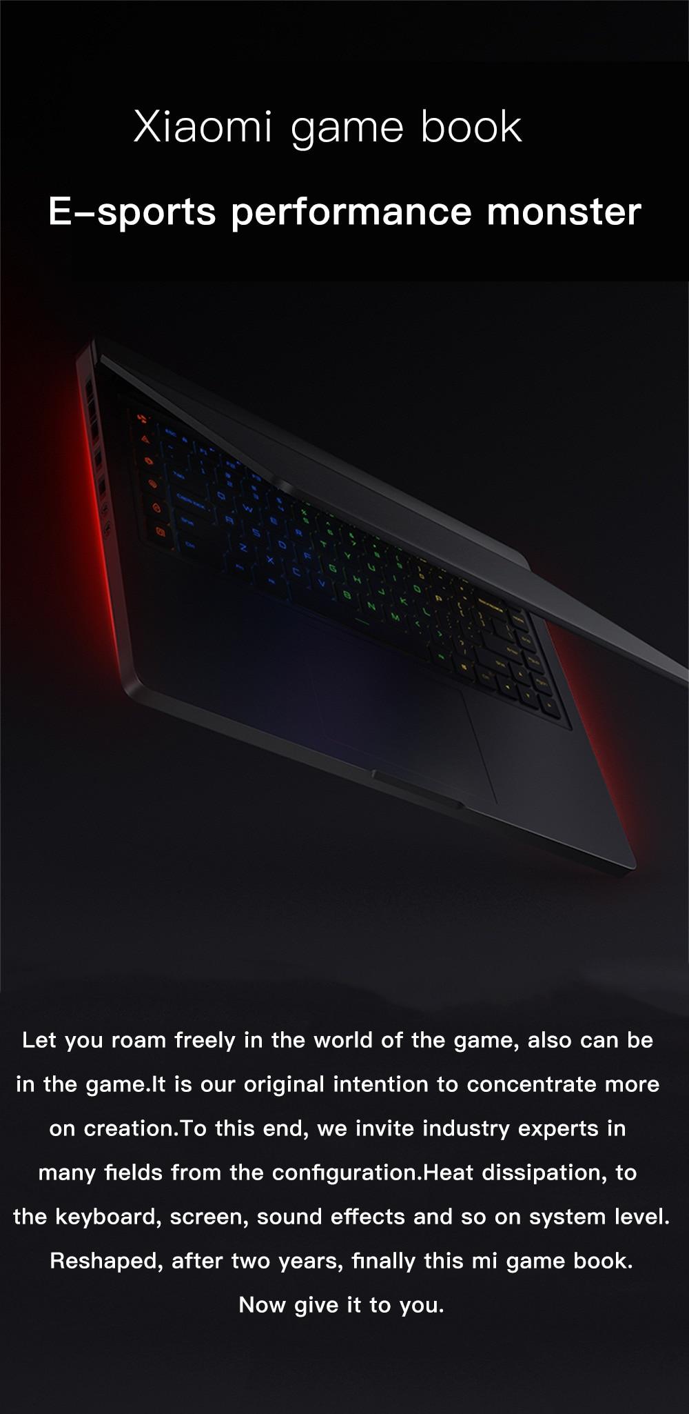 Xiaomi Mi Gaming Notebook 15.6 Intel Core 8G+1258G/16G 256GB Windows 10 Quad-core NVIDIA GeForce GTX 1060 I7-7700HQ 4