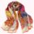 2015 de Primavera Y Otoño de Las Mujeres de Largo de Color Naranja de Seda Bufandas de La Manera Grado superior 100% Natural Seda Gris Rosa Bufanda de Seda Impresa 180*110 cm