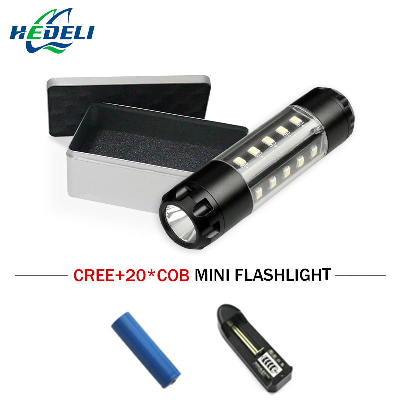 LED flashlight light waterproof mini torch 360 degree lighting 6 mode CREE XML T6 super  ...