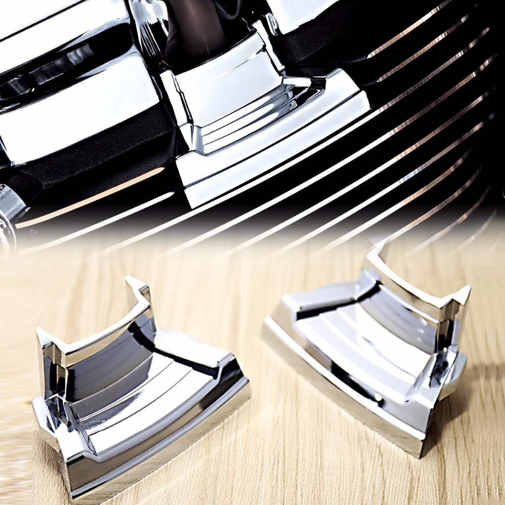 1Pair Chrome Spark Plug Covers For Harley Touring 2017-2018 M8 Street Glide Road Trikes 17 18&2018 Softail Breakout Fat Bob cnc top transmission cover for harley softail breakout fat boy touring 2006 2017 dyna fatboy street wide glide 06 17