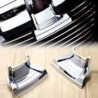 1Pair Chrome Spark Plug Covers For Harley Touring 2017 2018 M8 Street Glide Road Trikes 17 18&2018 Softail Breakout Fat Bob