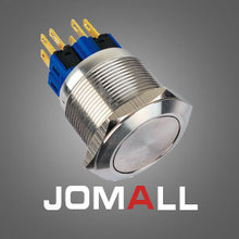 GQ25-11 25mm momentary LED light stainless steel push button switch with flat round