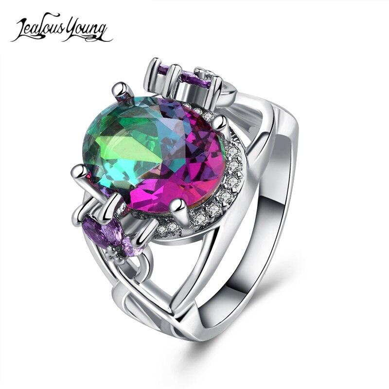 Verlobungsringe Gelernt Mode Luxus Multicolor Strass Frauen Party Ring Mit Silber Farbe Hochzeit Ringe Für Frauen Schmuck Geschenk Anillos Mujer Komplette Artikelauswahl