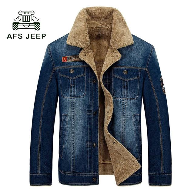 Baru Retro Denim Jaket Mens Jeans Mantel Musim Dingin Jaket Hangat merek  Kentalkan Denim Mantel Tahan Dr Pria Plus Ukuran M ~ 4XL 140wy 14d6f0a5d7