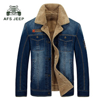 New Retro Warm Denim Jackets Mens Jeans Coats Winter Jackets Brand Thicken Denim Coat Men Outwear