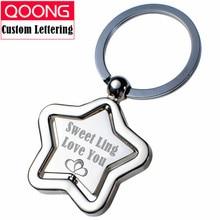 2015 Fashion Custom-made Star Key Chain Ring Holder Metal Keyring Car Keychain Bag Charm Pendant Birthday Present QZ3-012