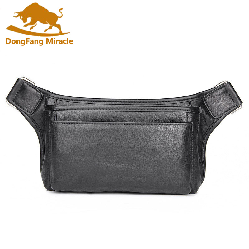 New Genuine Leather Waist Bag Men Waist Pack Waist Bag Funny Pack Belt Bag Men Waist Bag For Phone Pouch Bolso