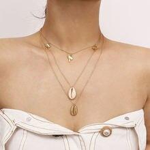 Модное богемное ожерелье из сплава кокосового дерева женское