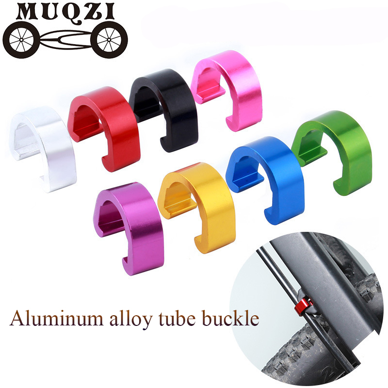 10Pcs Type MTB Mountain Bike Frame Buckle Bicycle Brake Cable Guides Clips